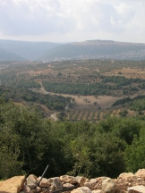 view from the mountaintop village of Matat