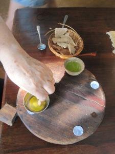 Tasting fresh oil